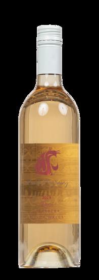 bottle of rose wine